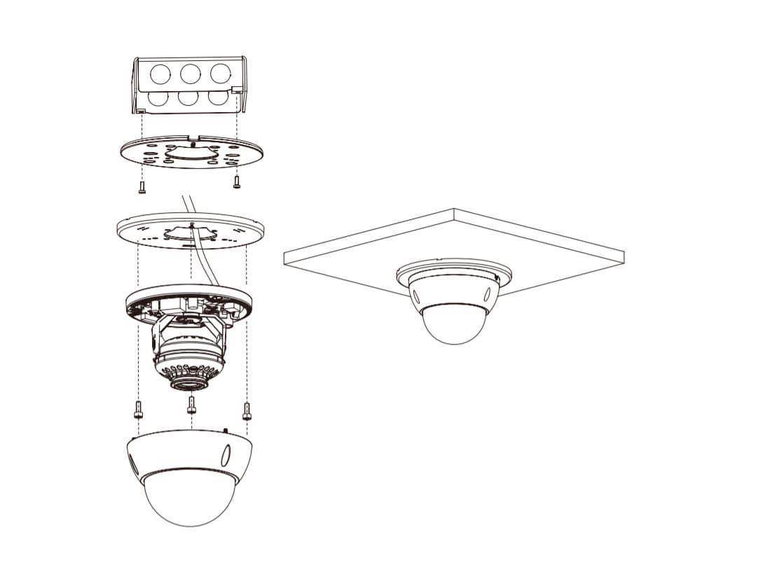 DH-PFA200G кольцо адаптер для подвесного потолка