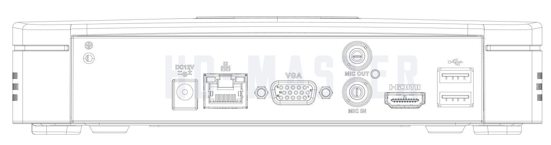 DH-NVR4104-4KS2 задняя панель