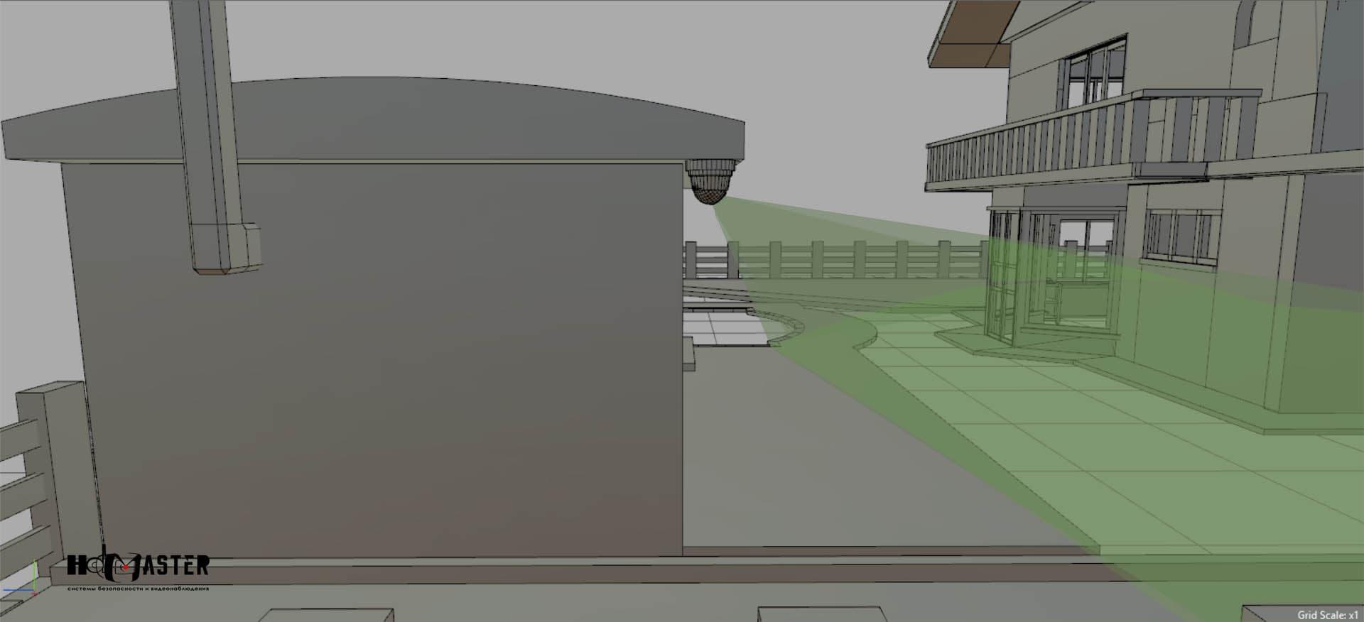 Видеокамера на задний двор