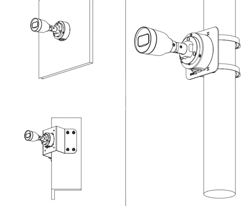 Монтажніе коробки и кронштейны для камер видеонаблюдения